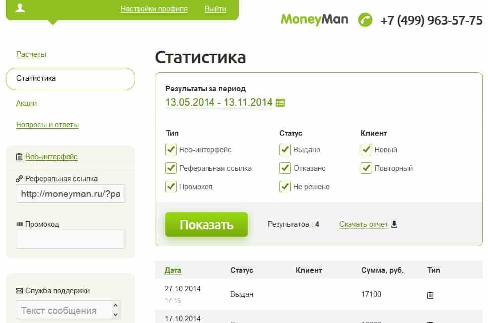 MoneyMan личный кабинет
